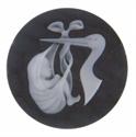 Afbeelding van My iMenso - Cameé zwart ooievaar met baby 27/407 - 33mm