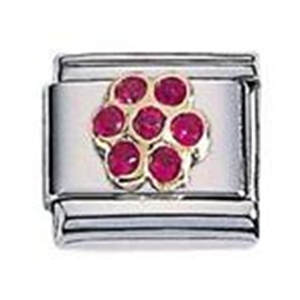 Afbeelding van Zoppini - 9mm - zirkonia bloem rood